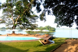 The pool and lake