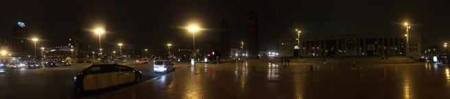 Panoramic view of Plaça Espanya